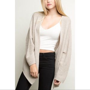 Brandy Melville | Oversized Tan/Cream Cardigan